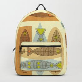 Fish In A Midcentury Modern Style Backpack