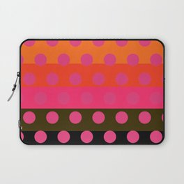 Earth and Summer Sky - Color Strips with Pink Dots Laptop Sleeve