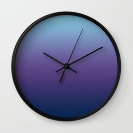 Ombre Blue Ultra Violet Gradient Pattern Wall Clock