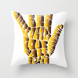 hand groove Throw Pillow