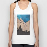 rushmore Tank Tops featuring Night Mountains No. 15 by Bakmann Art