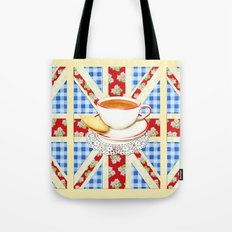 Union Jack and a Cup of Tea Tote Bag