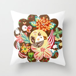 The forest of flower Throw Pillow