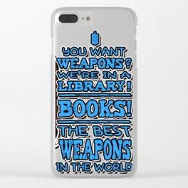 BOOKS! Clear iPhone Case
