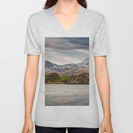 Snowdon Horseshoe Winter Unisex V-Neck