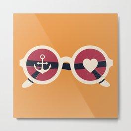 Sailor Heart Metal Print