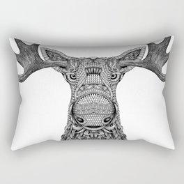 Tribal Moose Rectangular Pillow