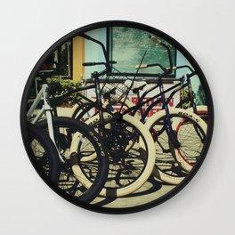 Bike Rentals Wall Clock