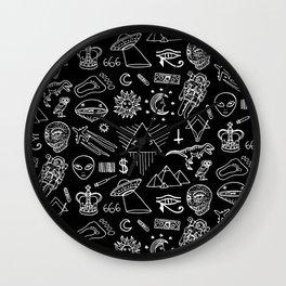 Conspiracy pattern (Censored version) Wall Clock