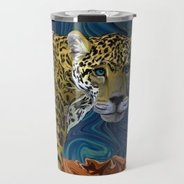 Leopard with the Sky in His Eyes Travel Mug