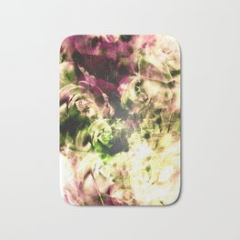 Floating Vintage Roses Bath Mat