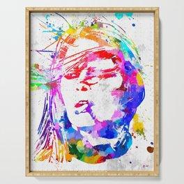 Bardot Watercolor Serving Tray