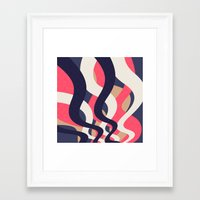 coral Framed Art Prints featuring Coral by Raluca Ag