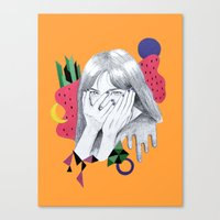 bjork Canvas Prints featuring Bjork by Shoko Yanagisawa