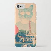 ali iPhone & iPod Cases featuring Cool Cat by Ali GULEC
