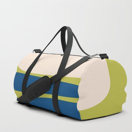 Organic Shapes in Blue and Lime Duffle Bag