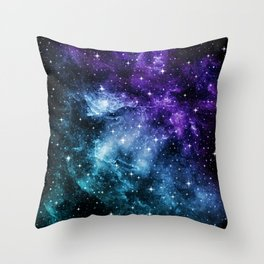 Purple Teal Galaxy Nebula Dream #1 #decor #art #society6 Throw Pillow