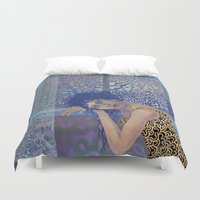window Duvet Covers featuring Window by doviArt
