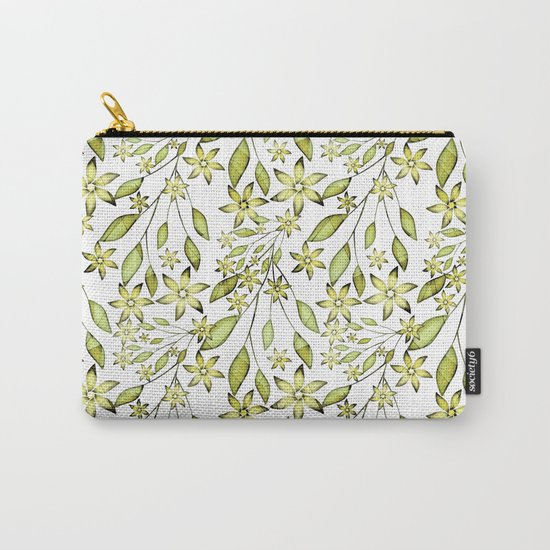 delicate floral pattern. Carry-All Pouch