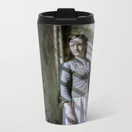 Girl by the window Metal Travel Mug