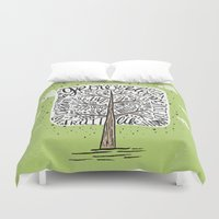 tree of life Duvet Covers featuring Tree of Life by Matthew Taylor Wilson