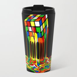 Rainbow Abstraction melted rubix cube iPhone 4 5 6 7 8, pillow case, mugs and tshirt Travel Mug