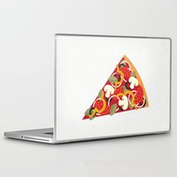 miles davis Laptop & iPad Skins featuring PIZZA POWER - VEGO VERSION by Daisy Beatrice