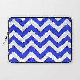 Palatinate blue - blue color - Zigzag Chevron Pattern Laptop Sleeve