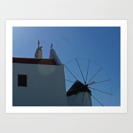 Meet Me At The Windmill Art Print
