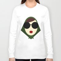 girly Long Sleeve T-shirts featuring Girly Girl by missflores