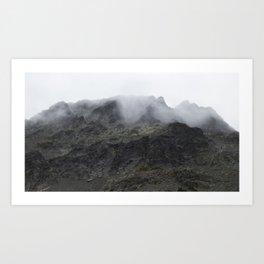 Blackcomb Peak Mist Art Print