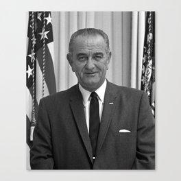 President Lyndon Johnson Canvas Print