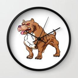 strong pitbull bodybuilder Wall Clock