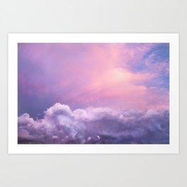 Sunset and Clouds | Blush Pink | Unicorn | Sky Art Print
