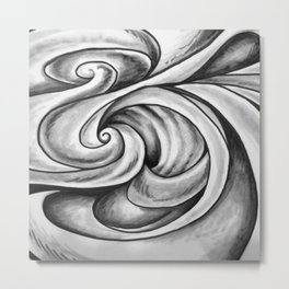 Swirl (Gray) Metal Print