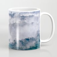 vietnam Mugs featuring Foggy Mountain of Sa Pa in VIETNAM by CAPTAINSILVA