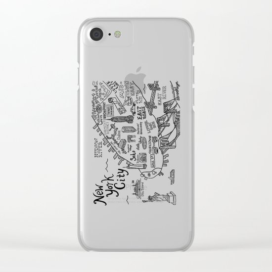 New York City Map Clear iPhone Case