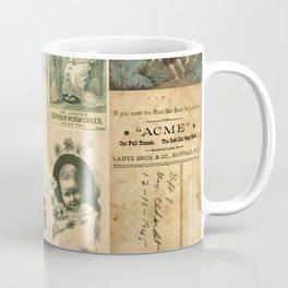Mom & Baby Ephemera Vintage Collage Coffee Mug