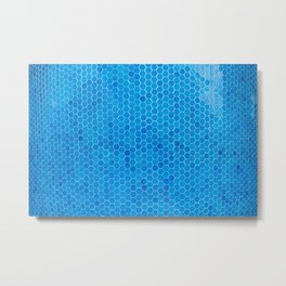 Turquoise Blue Sequins Metal Print