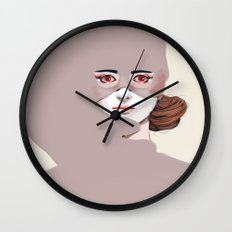 Untitled in Red Wall Clock