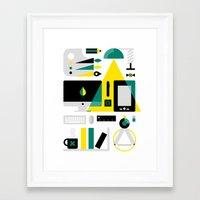 kit king Framed Art Prints featuring Designer's Kit by koivo