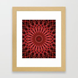 Pretty red an pink detailed mandala Framed Art Print