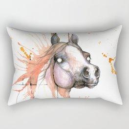 Horse watercolor painting Rectangular Pillow