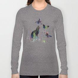Colorful Cat Art Long Sleeve T-shirt