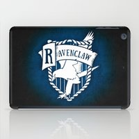 ravenclaw iPad Cases featuring White Ravenclaw Crest by Sharayah Mitchell
