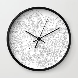 Microbe Family Wall Clock