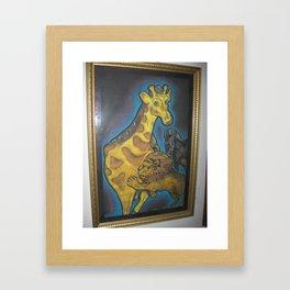 Kingly Lion Framed Art Print