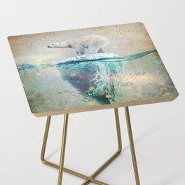 Polar Bear Adrift Side Table