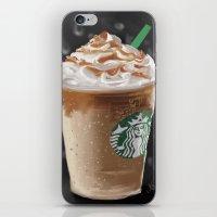 starbucks iPhone & iPod Skins featuring Starbucks by Amit Naftali