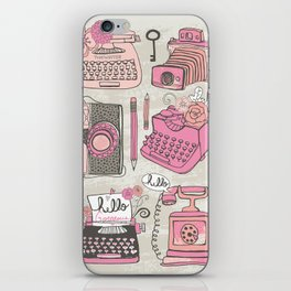 Vintage Cameras & Typewriters iPhone Skin